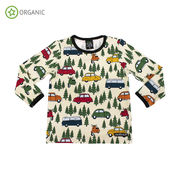 T-SHIRT L/S, FOREST CAR