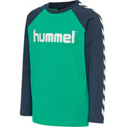 hmlBOYS T-SHIRT/LS, DEEP GREEN