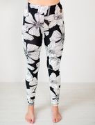 Miami Woman Leggins, Black Flower