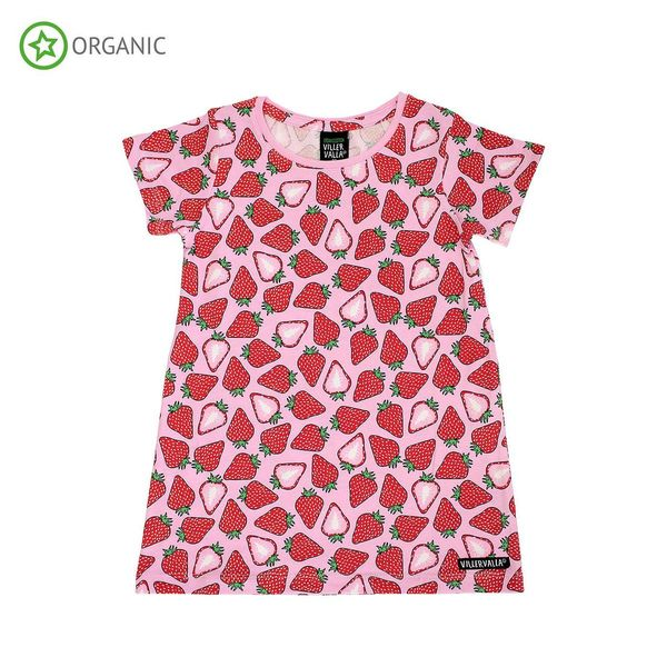 DRESS S/S, Fruit Strawberry