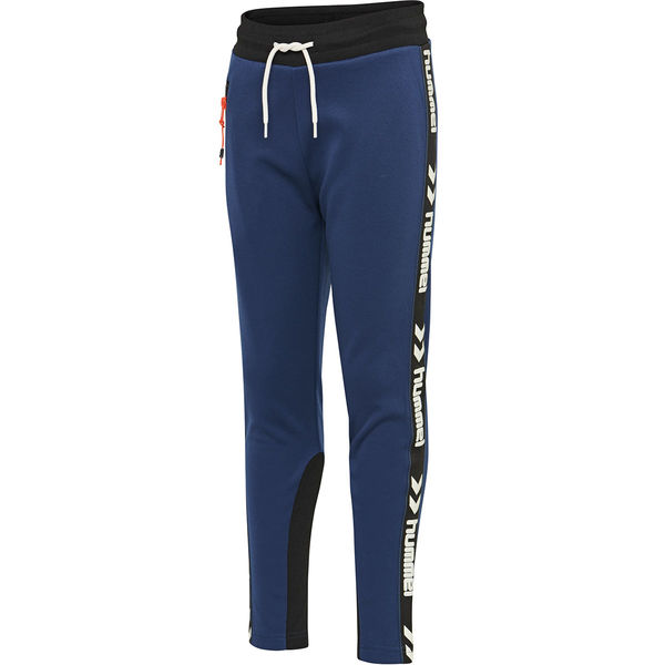 hmlLOKE PANTS, BLACK/BLUE