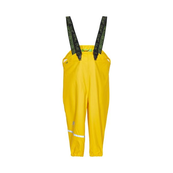 Kurahousut, Rainwear overall -solid Yellow 110cm-130cm