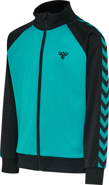 HMLKICK ZIP JACKE, BLACK/LAKE BLUE