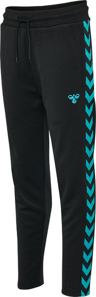 HMLKICK PANTS, BLACK/BLUE